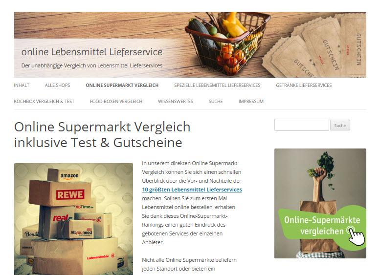 Bild online Lebensmittel Lieferservice